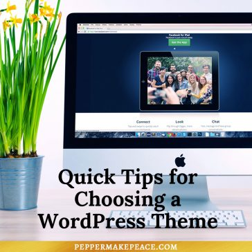 Quick Tips for Choosing a WordPress Theme