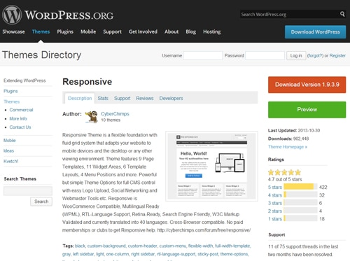 responsive worpress theme
