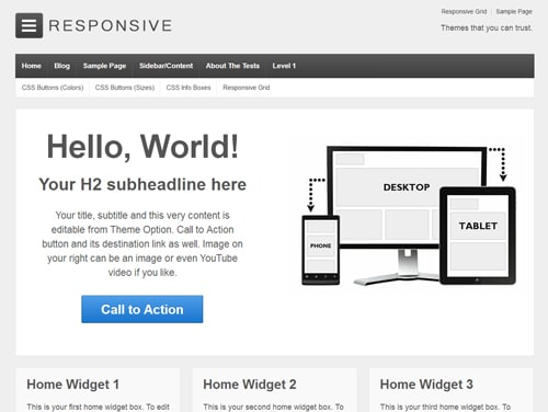 responsive3 wordpress theme