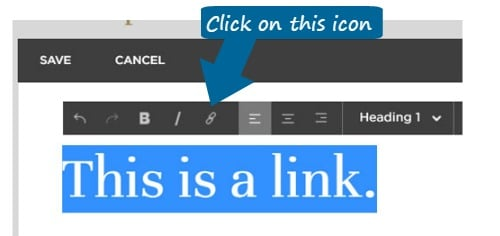 External Link How-To for Squarespace Text Editor 1