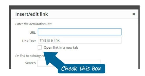 External Link How-To for WordPress Visual Editor 3