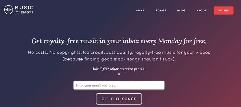 Music for Makers - Free Royalty-free Music Clips